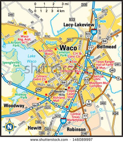 map of waco texas area waco stock photos images pictures