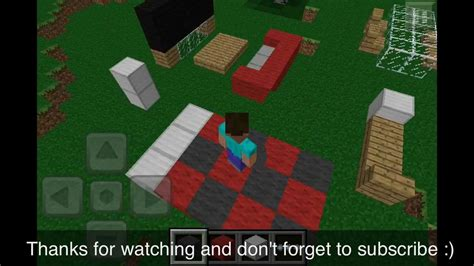 How To Make Furniture In Minecraft Pe by Minecraft Pocket Edition Basic Furniture
