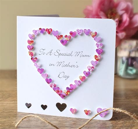 Mothers Day Cards Handmade - handmade 3d s day card personalised personalized