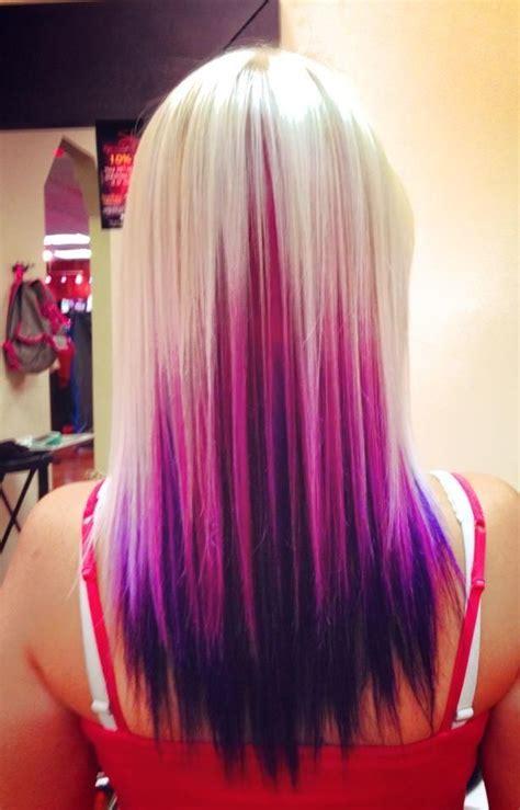 pink platinum blond streaks on short hair purple and blonde hair platinum blonde pink and purple