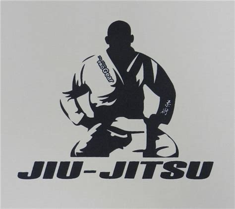 jiu jitsu progear patch fighter design white w navy
