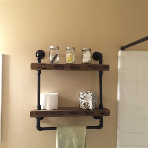 Wooden Bathroom Shelves Reclaimed Barn Wood Bathroom Shelves