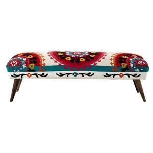 bout de lit brod 233 en coton multicolore l 119 cm bohemian