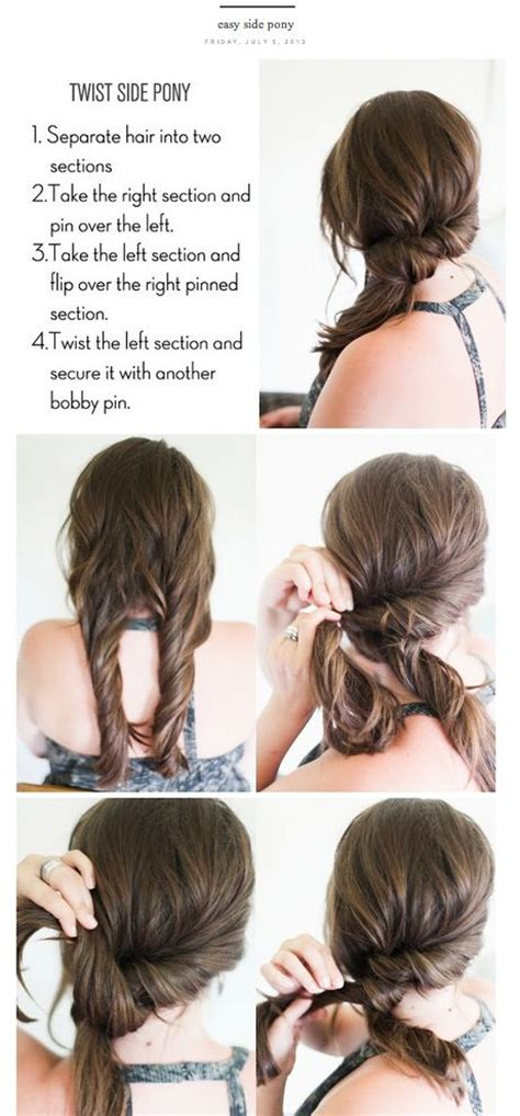 a and easy hairstyle i can fo myself cute fast hairstyles for long hair long hairstyles