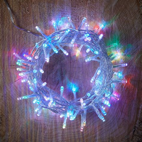 xmas lights b and q 120 colour changing led string lights departments diy at b q