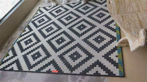 black white geometric rug 78x79 black white geometric patterned rug used worn condition