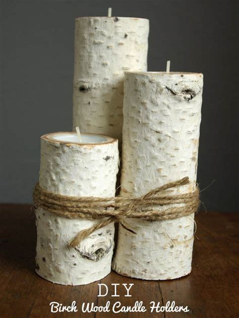 home decor birch wood candle holders wedding decor diy room decor living room birch trees diy ready