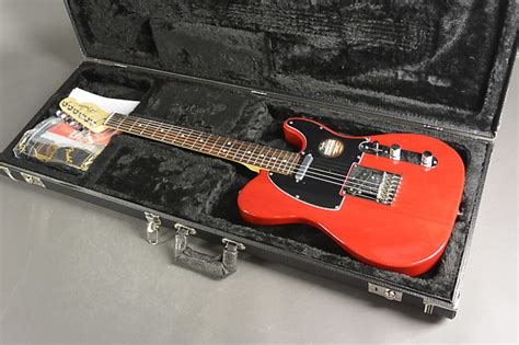 American Transparency Records Request Fender American Standard Telecaster Crimson Transparent Reverb