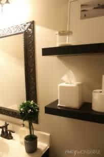 Powder Room Shelves Crazy Wonderful Quick Powder Room Makeover