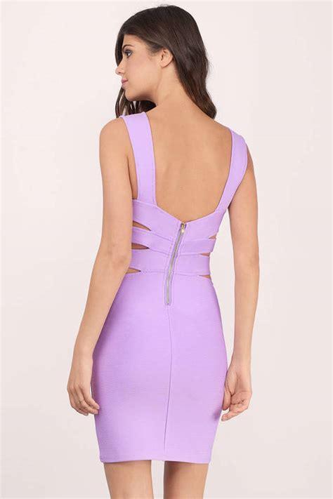 light purple bodycon dress lavender bodycon dress purple dress bandage dress