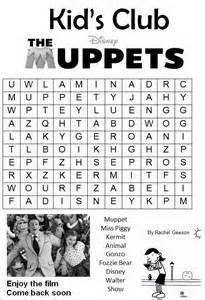kids club muppets wordsearch plaza cinema dorchester