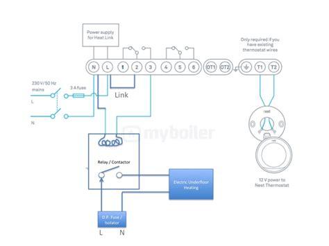 wiring diagram for contactor underfloor heating wiring