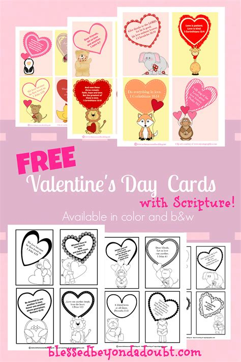 printable christian valentines day cards free scripture themed valentine s day printables and crafts