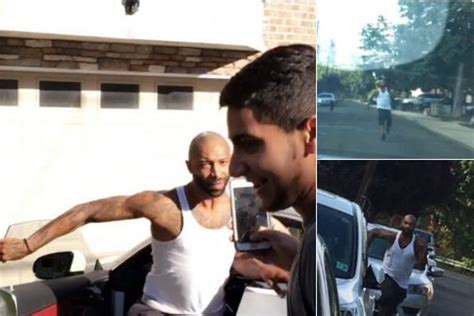 joe house twitter watch joe budden chase down drake fans who heckled him at his house metro news