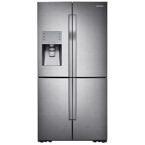 4 Door Refrigerator by Shop Samsung 30 4 Cu Ft 4 Door Door Refrigerator