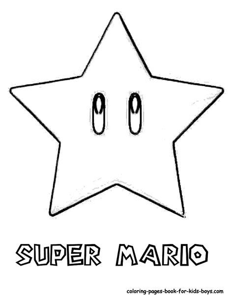 Super Mario Star Coloring Page Sketch sketch template