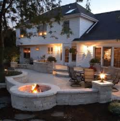 Outdoor Patio Firepit Outdoor Kitchen Deck And Outdoor Patio Designs With