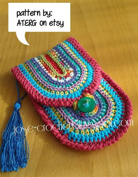 crochet mobile bag pattern quot colorfull case quot i adapted the pattern a bit to fit my