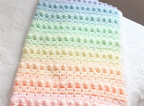 Rainbow Crochet Baby Blanket by Rainbow Popcorn Our Crochet Pattern