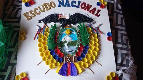 Como Hacer Un Escudo Material Resiclave | como hacer un escudo del ecuador con material reciclable