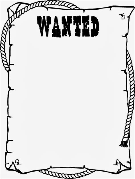 Wanted Poster Template For Kids Ctzobx5z School Stuff Pinterest Template Wild West And Printable Wanted Poster Template Free