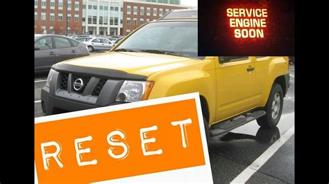 how to reset service engine light 2005 nissan xterra service engine soon light reset