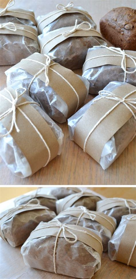 zucchini bread individually wrapped with wax paper