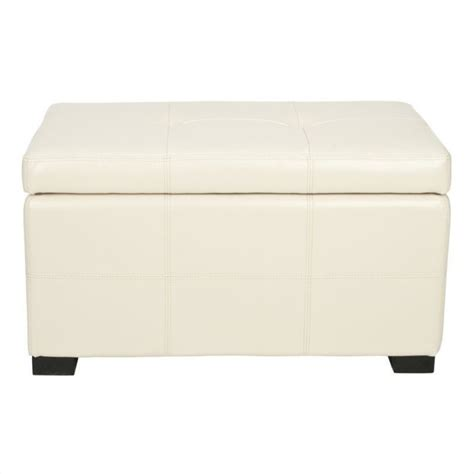 cream tufted ottoman safavieh small maiden tufted leather storage ottoman in