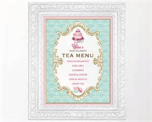 afternoon tea menu template high tea menu sign kitchen tea bridal shower sign