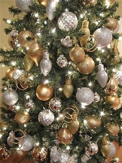 silver and gold christmas tree decorations designcorner