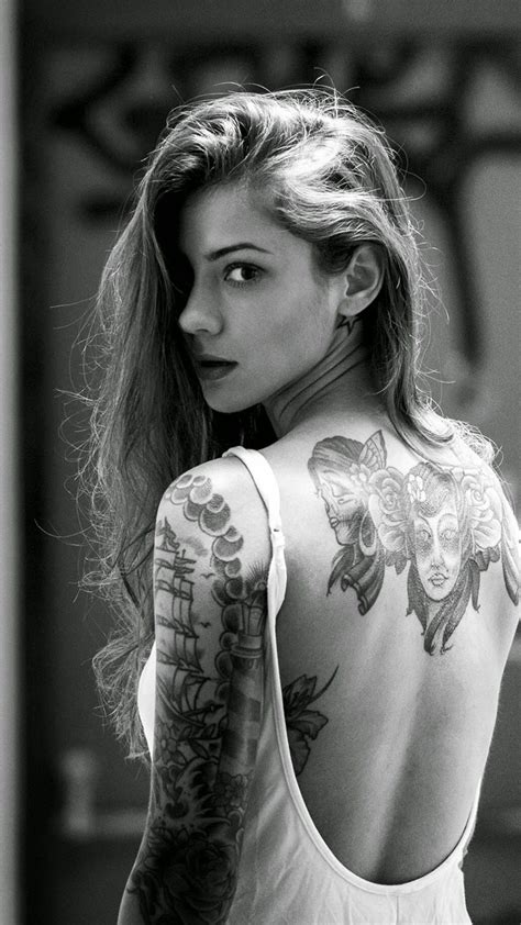 tattoo full hd image beautiful girl tattooed back iphone 6 wallpaper j