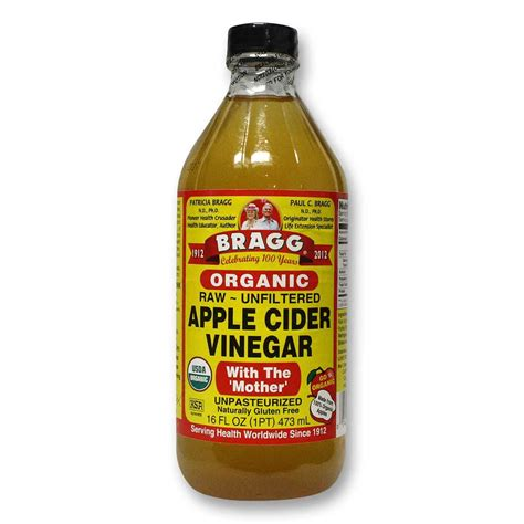 Vinegar For Detox by Bragg Apple Cider Vinegar Organic 16 Fl Oz Organic