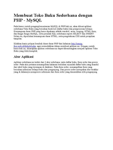 membuat toko online sederhana php membuat toko buku sederhana dengan php