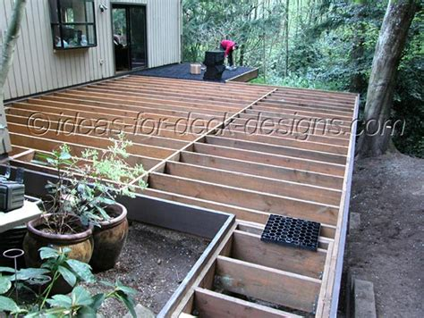stone paver deck build wood framing for pavers