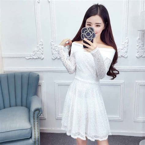 Valencia Dress Putih Brokat Import dress pesta putih brokat cantik 2017 model terbaru