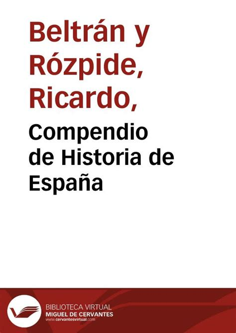 historia de espaa vol compendio de historia de espa 241 a informe de ricardo