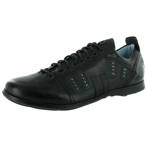 steven by steve madden mens keang leather casual lace up
