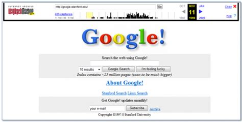 google images old version searching for old versions of web sites the wayback