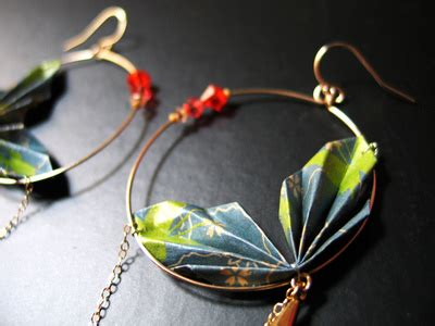 boucles d oreilles jungle origami perles co