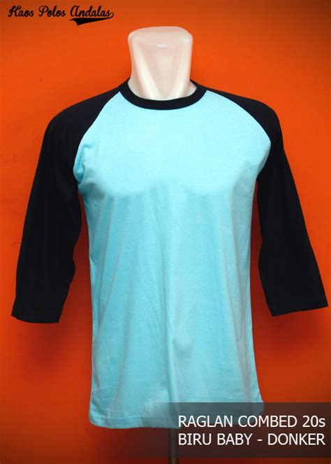 Kaos Raglan Kaos Raglan Polos Kaos Polos Raglan Kaos Raglan Pria 3 kaos polos raglan lengan 3 4 cotton combed 20s grosir