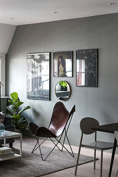 grey scandinavian a scandinavian apartment redecorated in darker tones