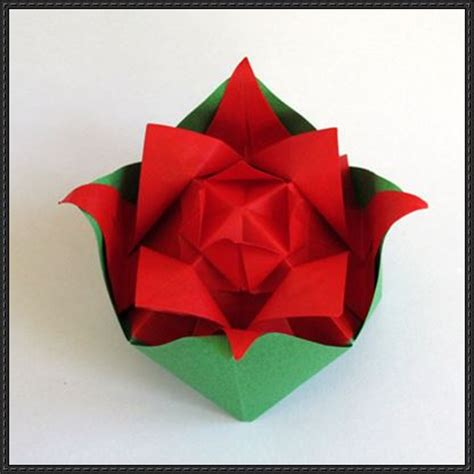 Papercraft Origami Flowers - new paper craft paper flower nested origami