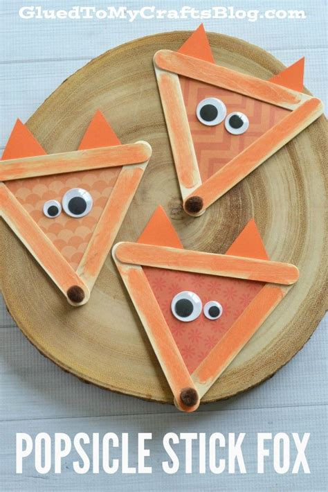 popsicle stick crafts for free popsicle stick fox kid craft fox foxes and craft