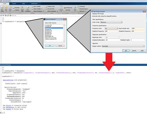 high pass filter code in matlab high pass filter matlab