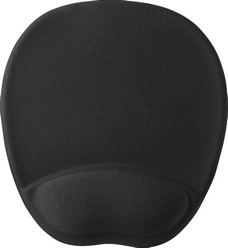 Mouse Pad Dengan Bantalan Gel Black insignia mouse pad with memory foam wrist rest black ns pnp5002 best buy