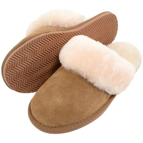 sheepskin mule slippers uk sheepskin mule slipper with cuff plum snugrugs