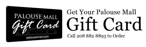 Gift Card Disclaimer - palouse mall gift cards