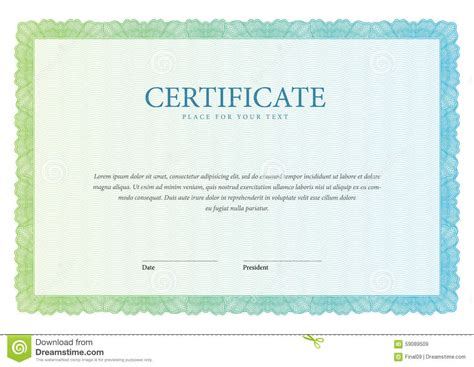 vintage certificate template vintage certificate template diplomas currency stock
