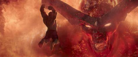 thor movie vs mythology surtur and hulk thor ragnarok trailer screenshot the