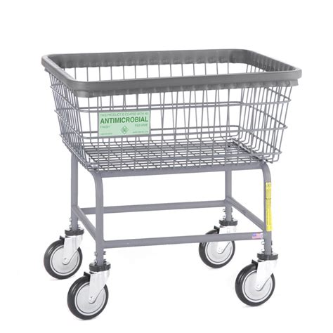 laundry cart antimicrobial metal wire laundry cart 2 5 bushel unoclean